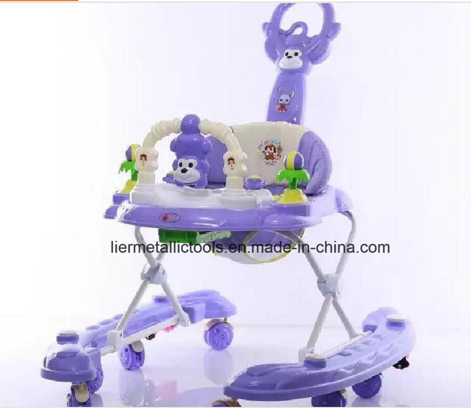 Plastic Toy Style Baby Walker with Seat Cover