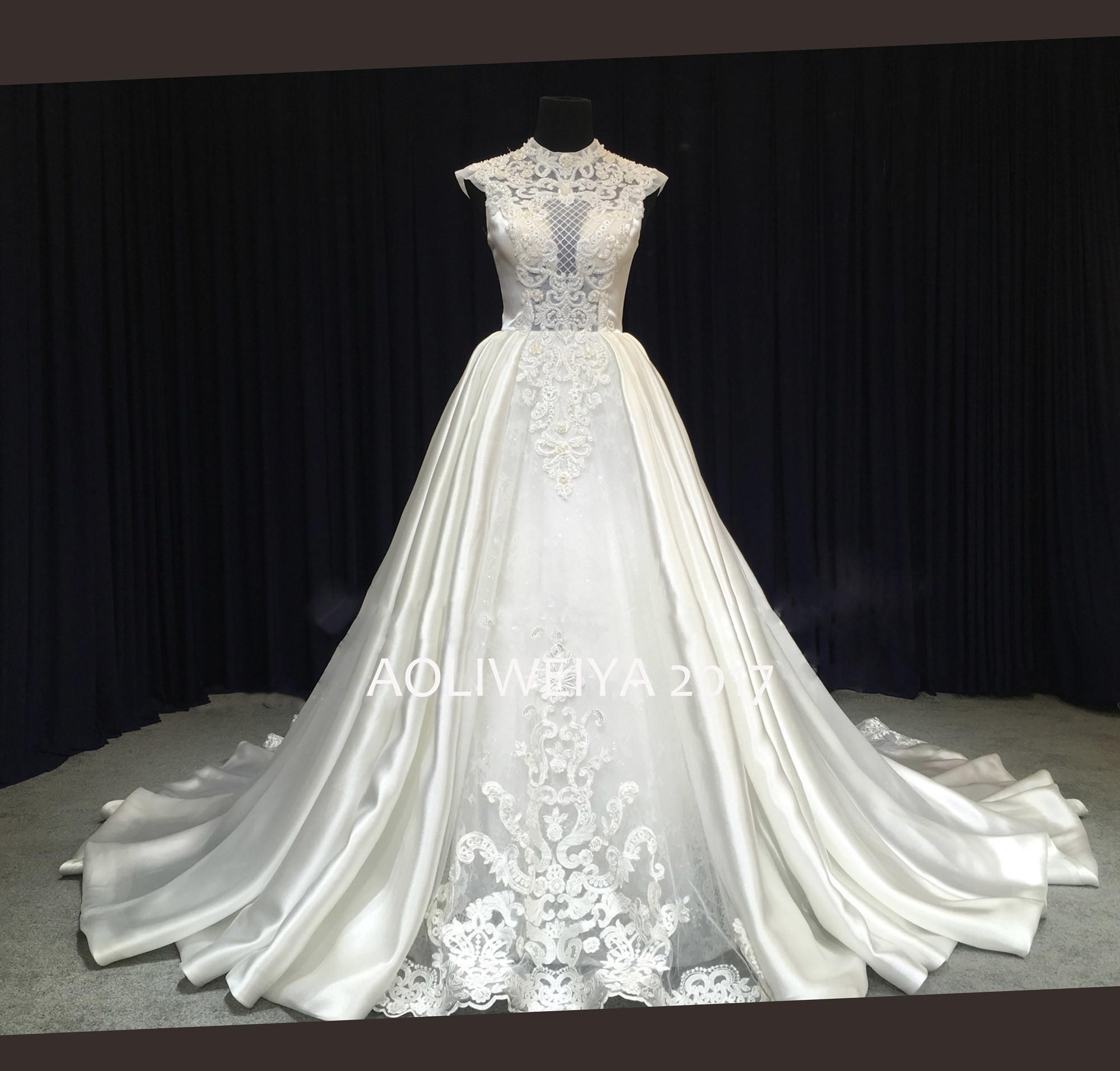 Aoliweiya 2017 New Arrival Design Elegant Lace Wedding Dress