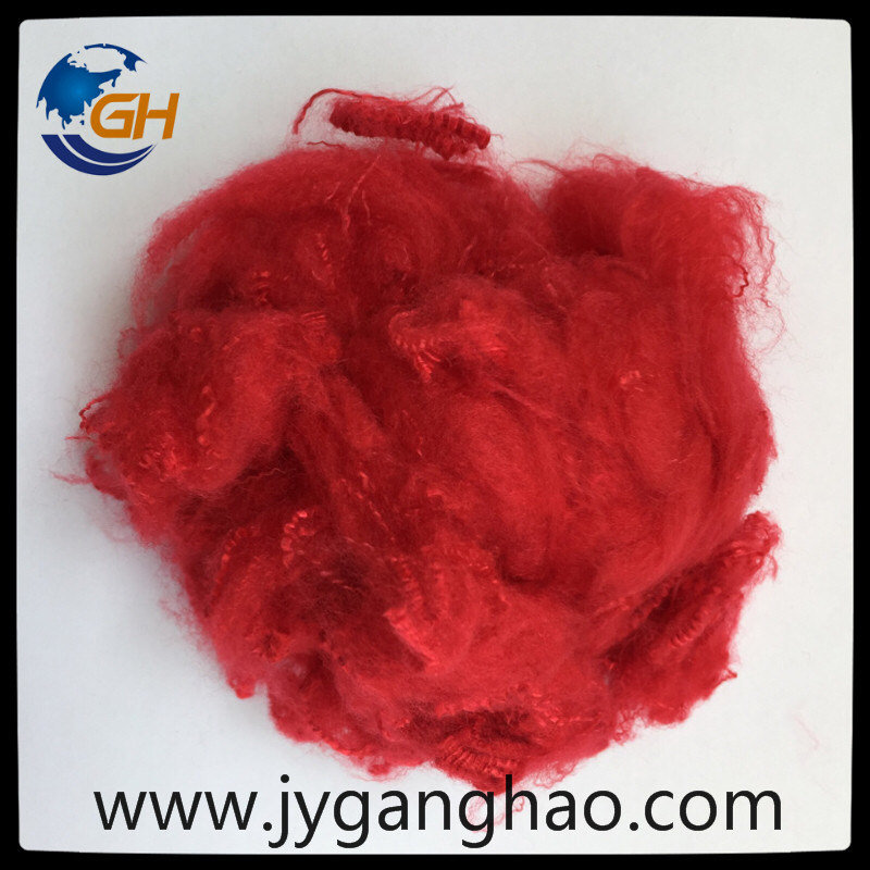 Polyester Staple Fiber in Red