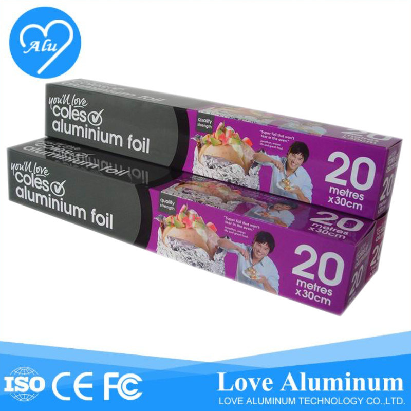 Household Roll Type Aluminum Foil for Food Packing