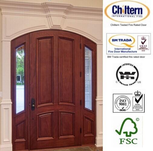 Solid Exterior Wooden/Timber Door Entrance Door with Decoration