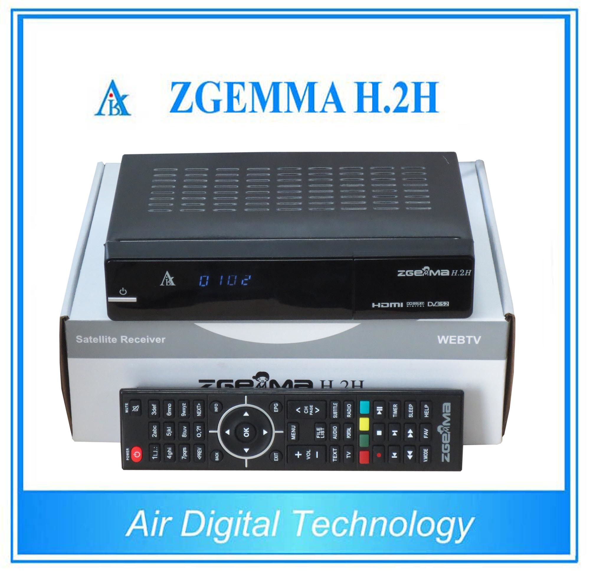 Digital Satellite Receiver DVB S2 + DVB T2 Satellite & Terrestrial Receiver with Dual Core CPU Zgemma H. 2h