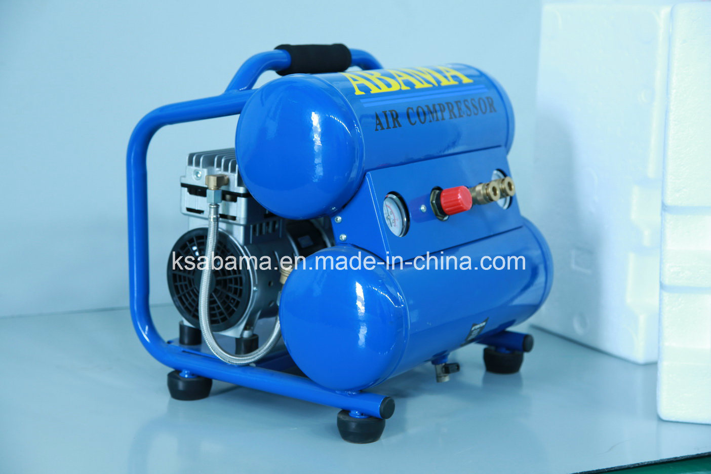 Tat-2018ht 1.0HP Twin Tank Hand Carry Oil Free Silent Air Compressor
