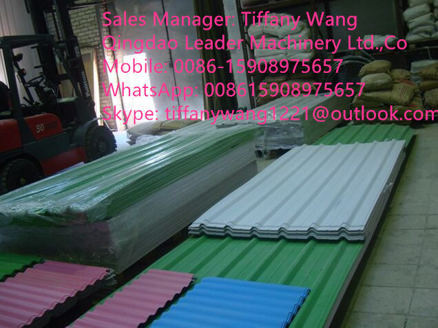 PVC/PC/PP/Pet Corrugated Sheet Extrusion Line