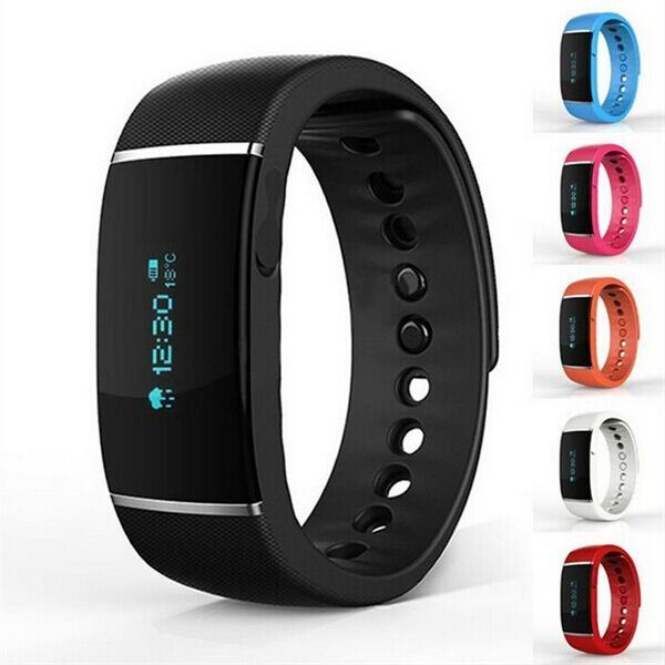 2015 S55 Smart Watch Wristband Waterproof Bluetooth Bracelet with Passometer Fitness Sleep Tracker for iPhone