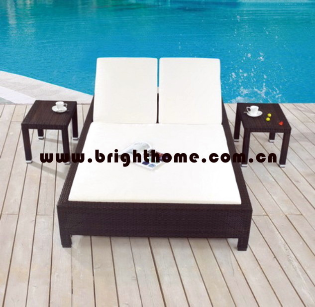 Wicker Outdoor Lounge Set / Beach Chair / Daybed (BG-MT11)