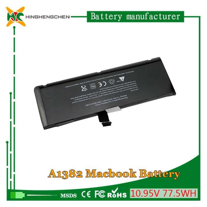 Genuine Laptop Battery for Apple MacBook A1382 A1286 Li-ion Lithium Battery