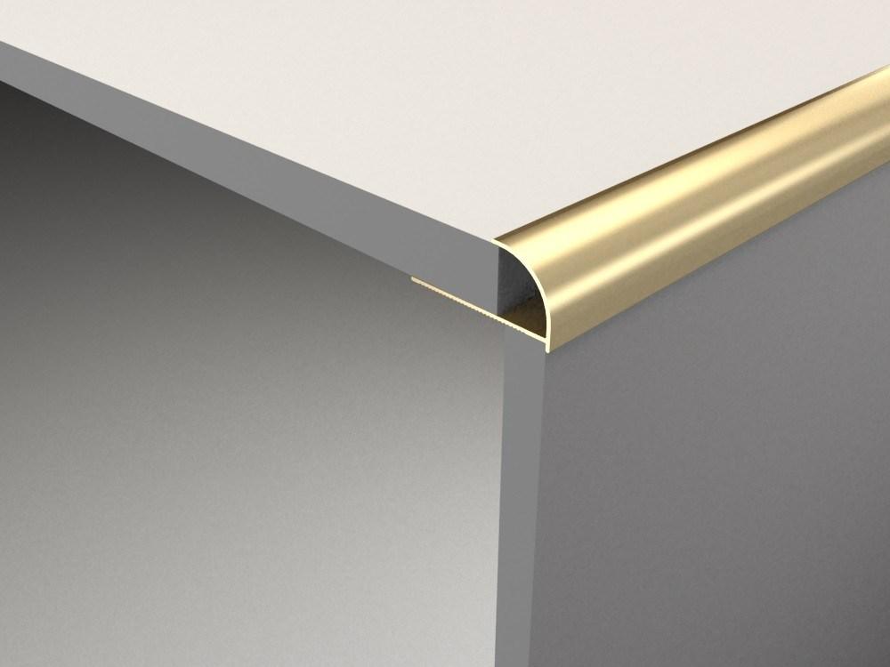 Extruded Anodized Aluminium Staircase Corner Tile Trim