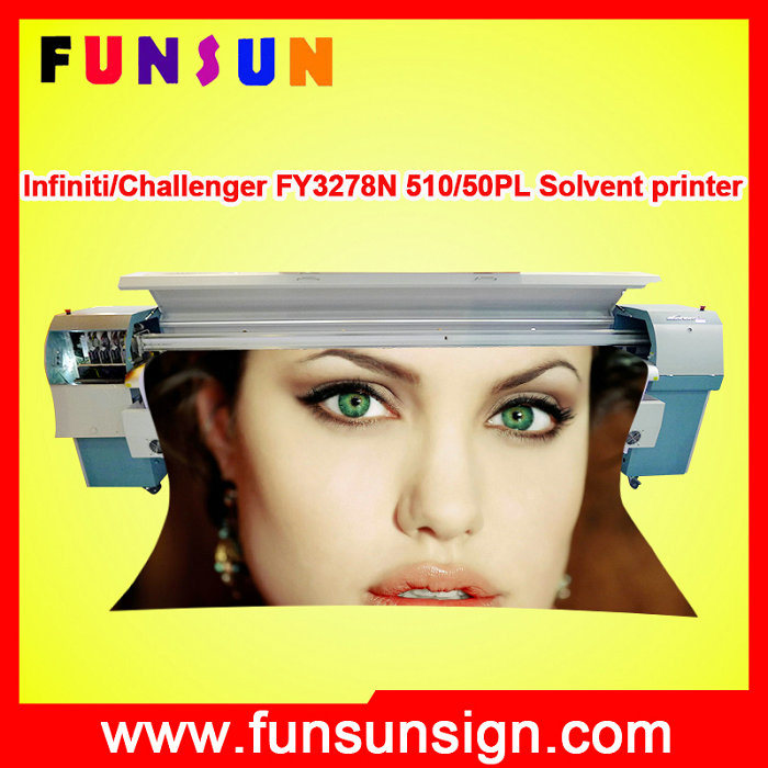 Challenger Infiniti Fy3278n Large Format 510 50pl Solvent Printer for Banners (3.2m/10FT, cmyk 4 colors, 157 sqm/ hour)