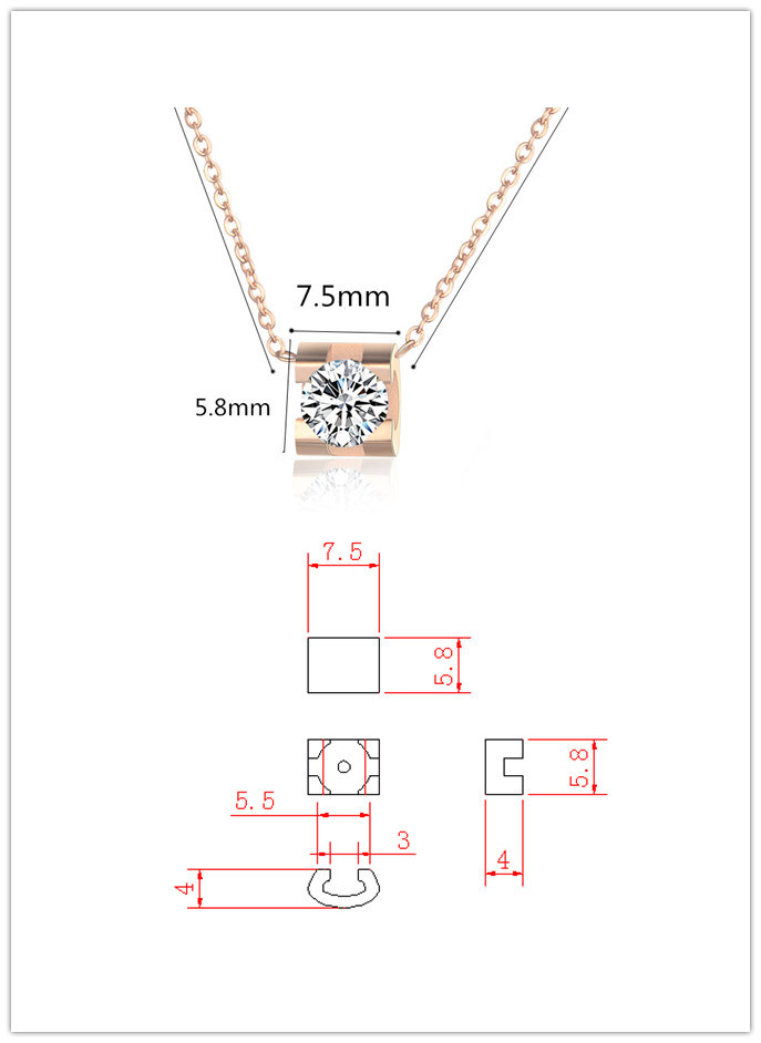 Fashion Accessories Pendant Stainless Steel Necklace (hdx1054)