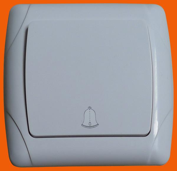 EU Style Flush Mounting Wall Light Doorbell Switch F3006