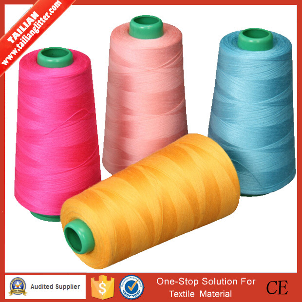 2016tailian Wholesale Spun 40s/2 100% Polyester Sewing Thread
