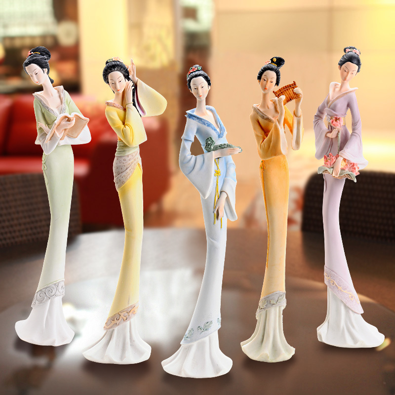 Custom Polyresin Woman Figurines High Quality Gift