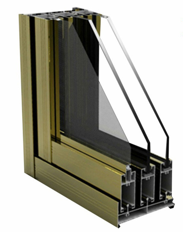 Constmart Aluminium Sliding Window Section With Mosquito
