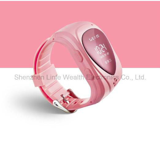 Jm09 GPS Tracker Smart Kid Children Bluetooth Watch SIM for Android Ios Anti-Lost Sos Pink