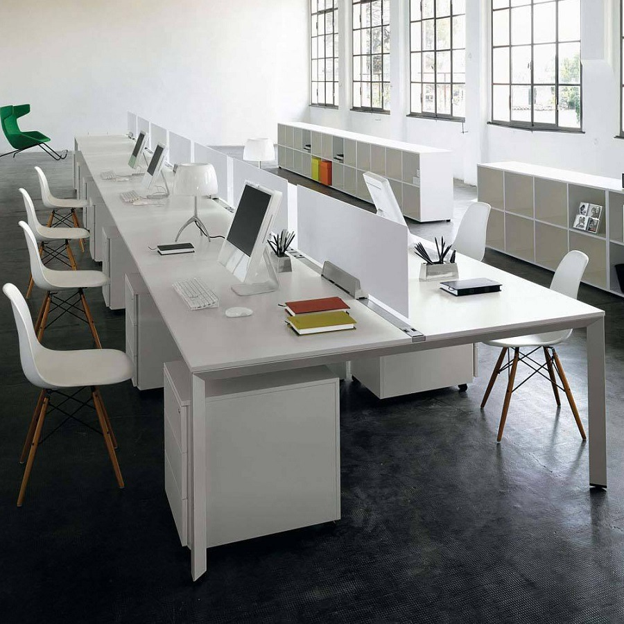 China modern white open office desk workstation furniture for Open design furniture