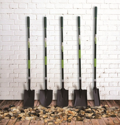 Garden Tools D Shaped Fibreglass Handle Forged Steel Trenching Shovel Drain Spade