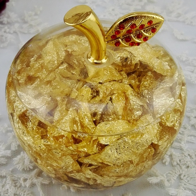 Gold Acrylic Crystal Lovely Christmas Craft Christmas Eve Little Apple