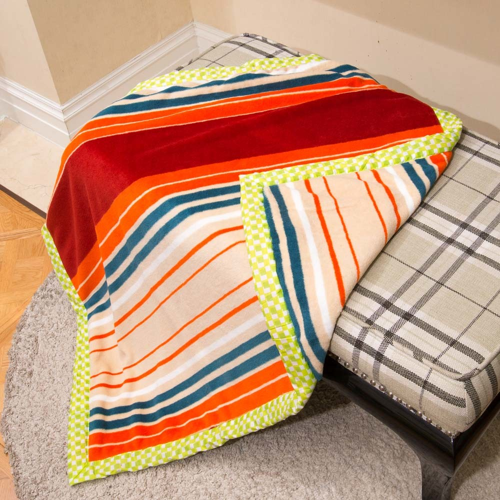 Polyester Double Printed Flannel Fleece Blanket/ Baby Blanket