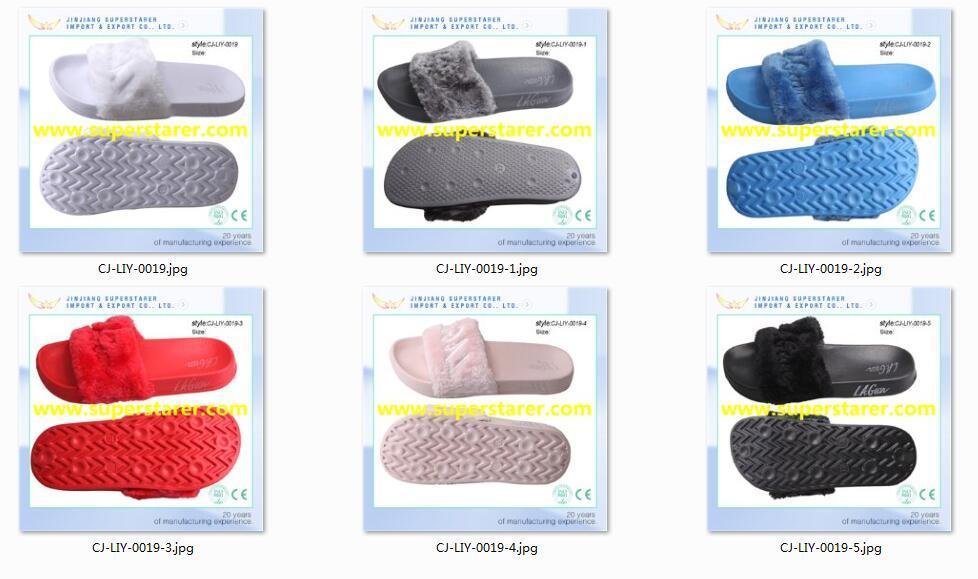 Fashion Winter Slipper, Comfortable Fur Slipper for Ladies