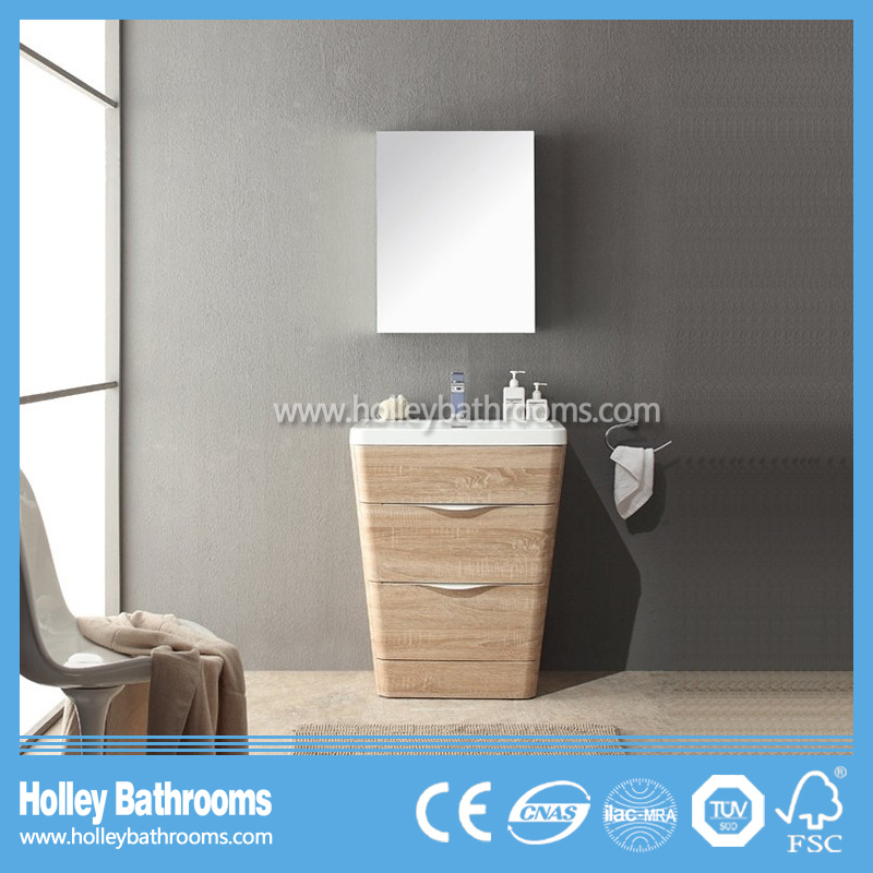 Special Modern Bathroom Furniture with 2 Drawers and Mirror Cabinet (BF366D)