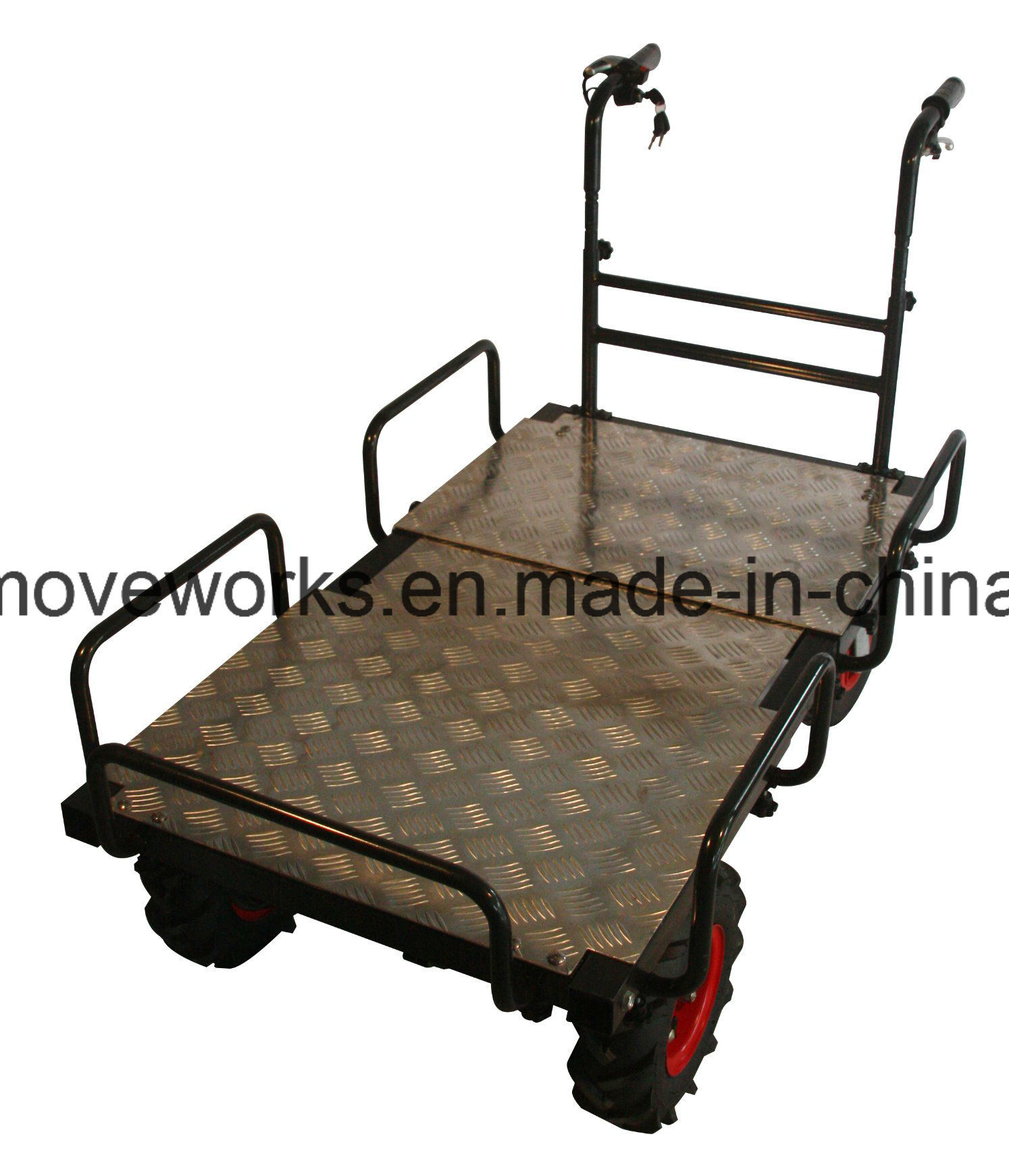 Pallet Platform Electric Drive Cart Electrical Barrow for Gardening Architecture Warehousing Agriculture