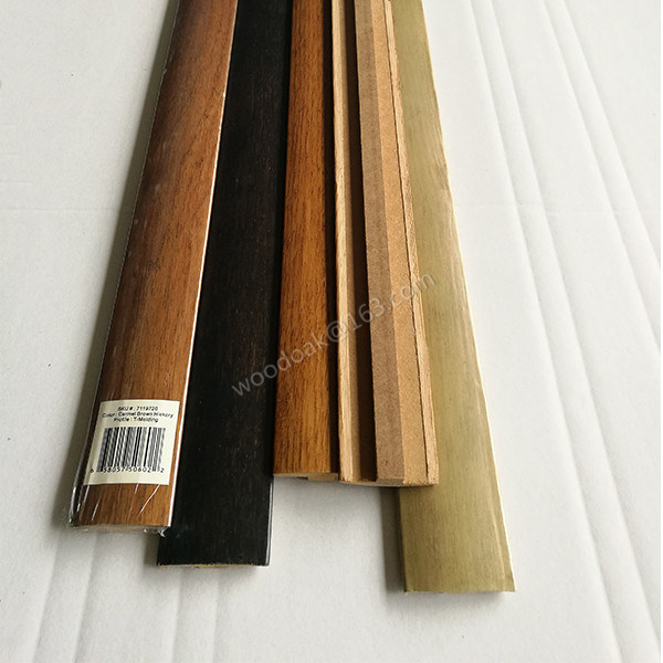 MDF T-Molding Decoration Material Wood Moulding
