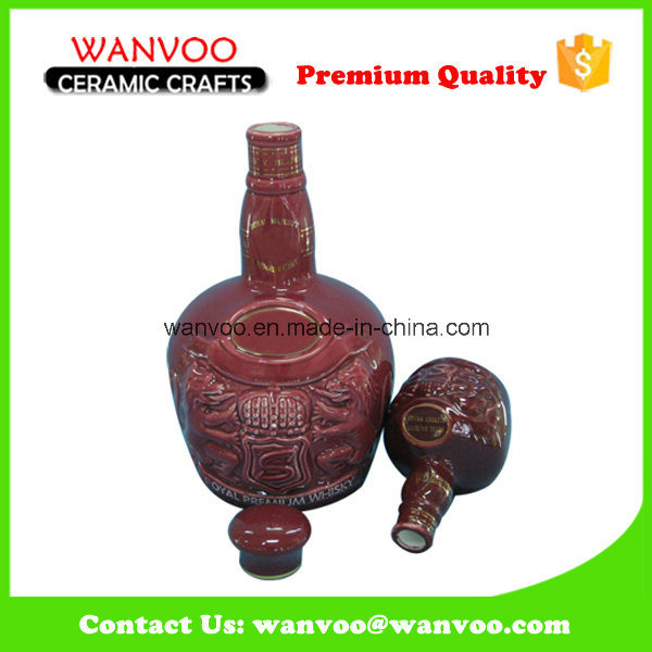 China High Quality Best Price Ceramic Wine Bottle for Storaging Wine
