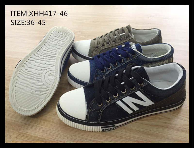 Latest Injection PU Canvas Shoes Casual Skate Shoes (XHH417-46)