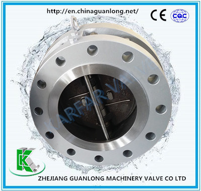 Spring Loaded Flange End Non Slam Butterfly Swing Check Valve (H46X/H DDCV)