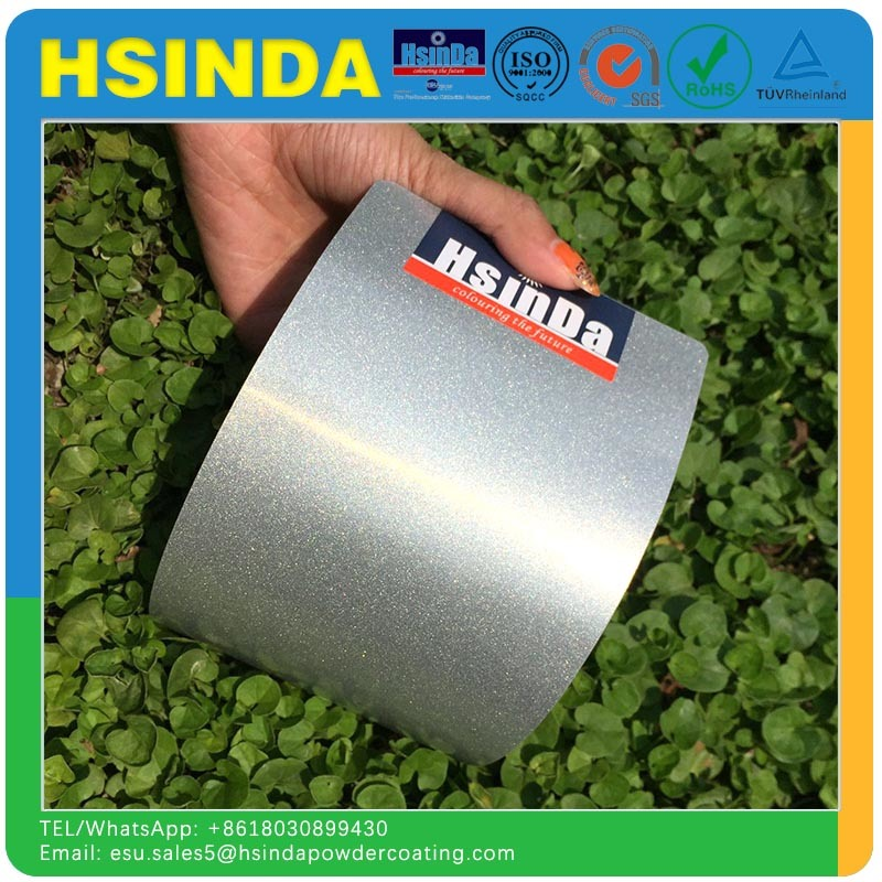 Hot Sale Glitter Metal Powder Ral 9006 Shiny Silver Pearl Color Metallic Bonded Powder Coating