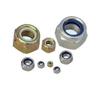 DIN985 Carbon Steel Nylon Lock Nut, Zinc Plating,