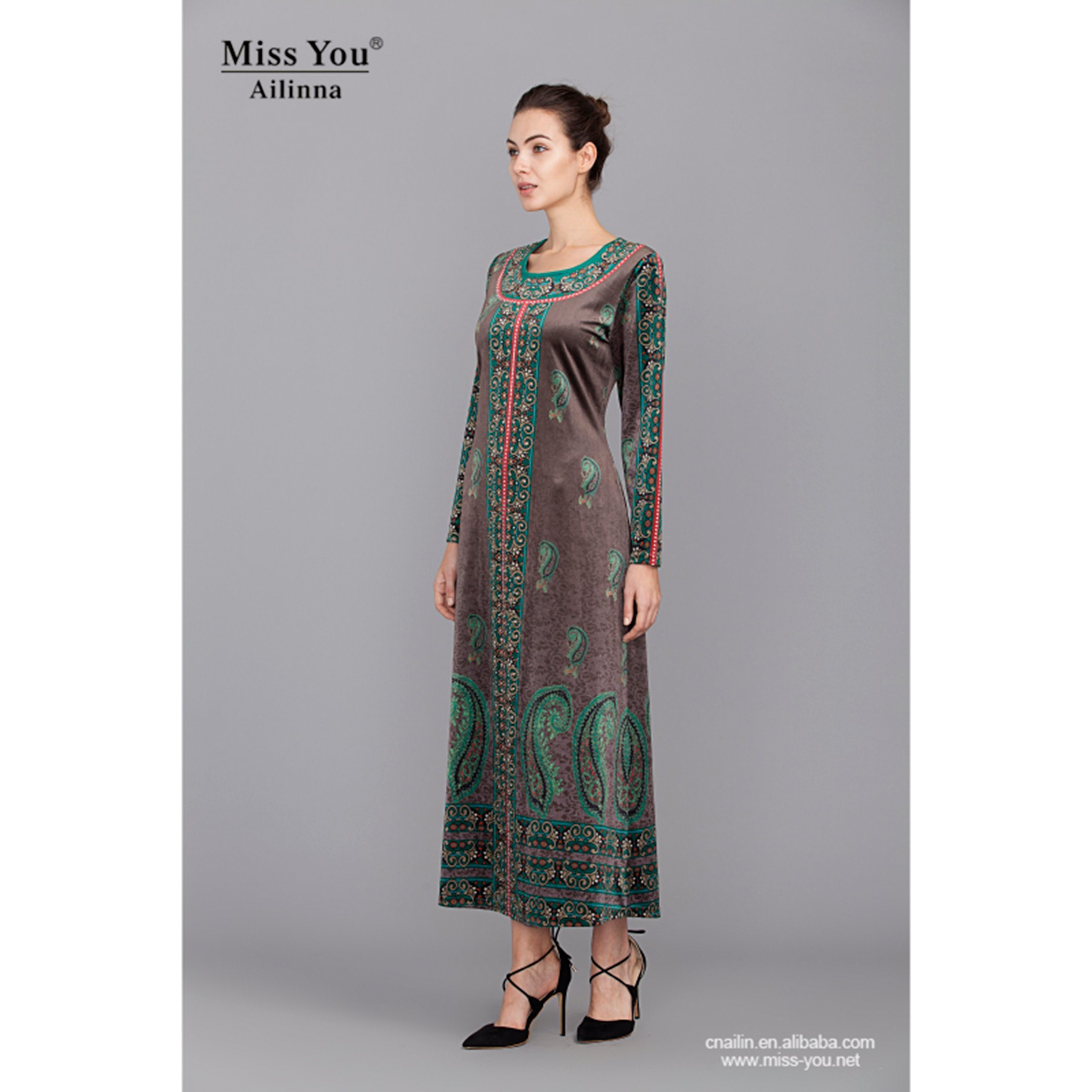 Miss You Ailinna 305081 Fashion Pakistan Dress for Muslim