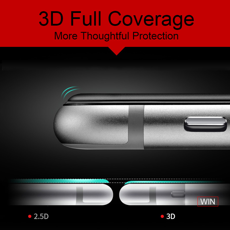 3D Soft Edge Mobile Phone Tempered Glass Protector for iPhone 6 /6 Plus
