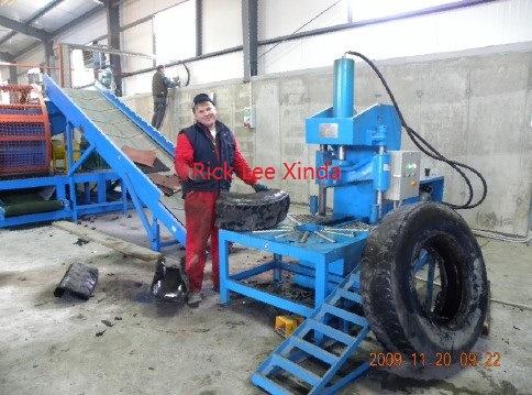 Whole Scrap Tire Cutter Cutting Machine