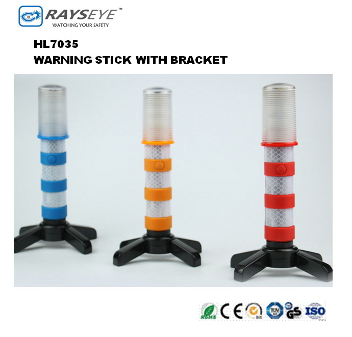 Emergency Road Safety Warning Stick with Bracket