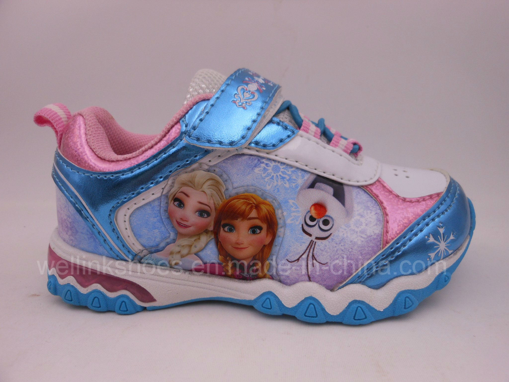 High Quality Sports Shoes with Light for Girl Frozen