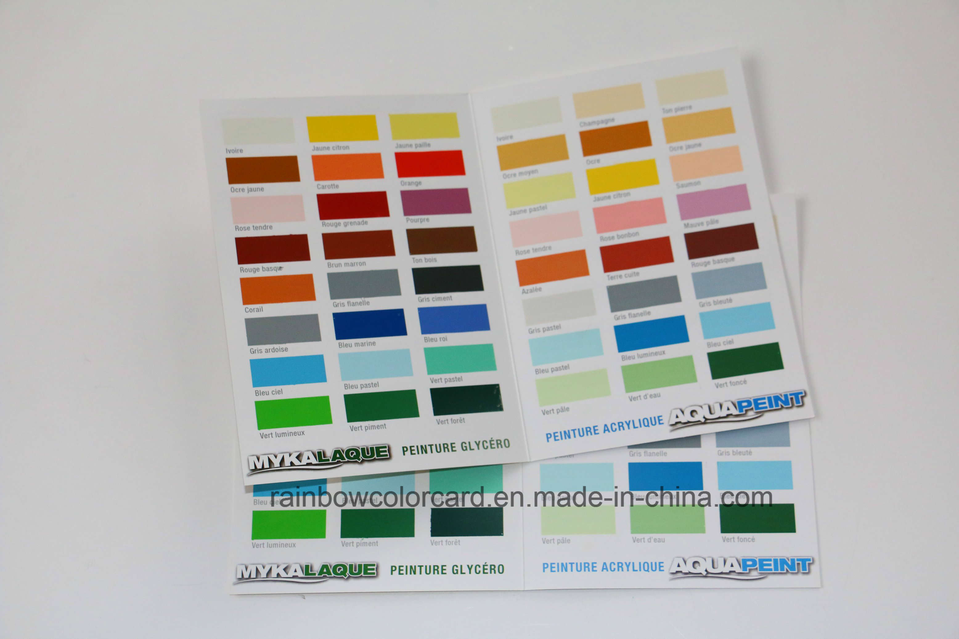Emulsion Coating Color Chart Card in Two Sides