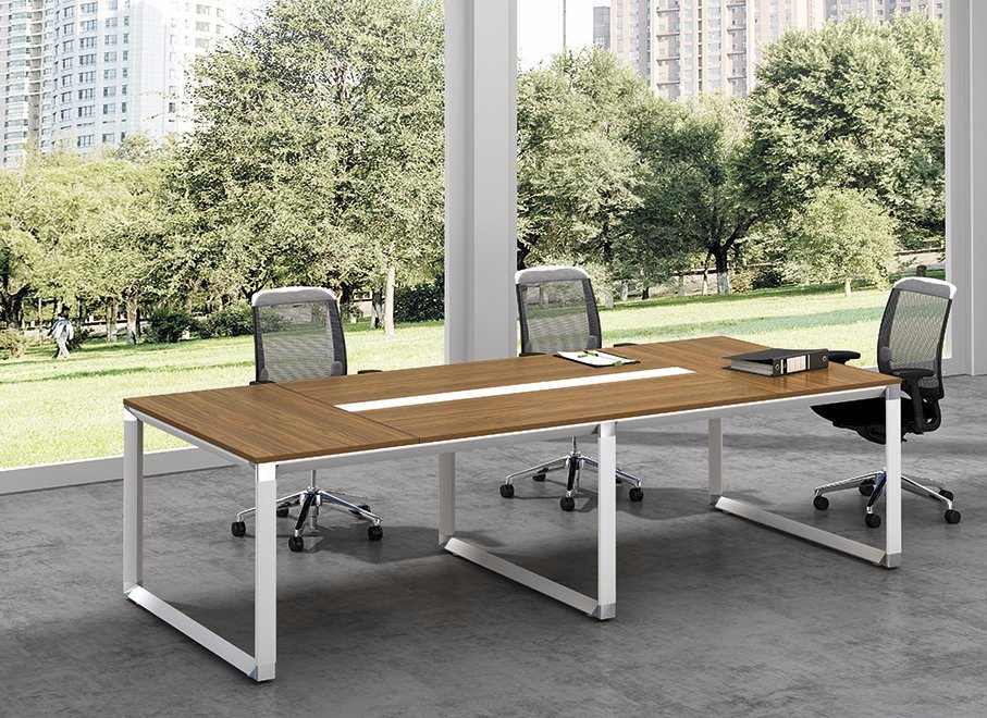 White Customized Metal Steel Office Conference Desk Frame with Ht71-3