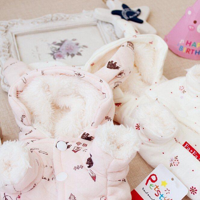 Pet Products Little Bunny Grid Cotton Pet Clothes Dog