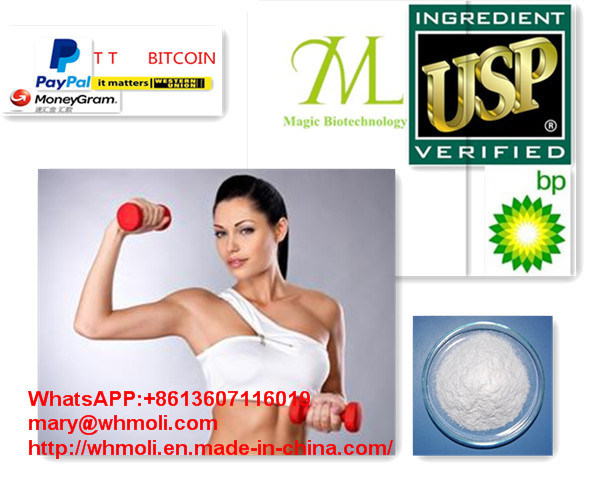 White Crystalline Steroids Powder Testosterone Cypionate for Men Muscle Building
