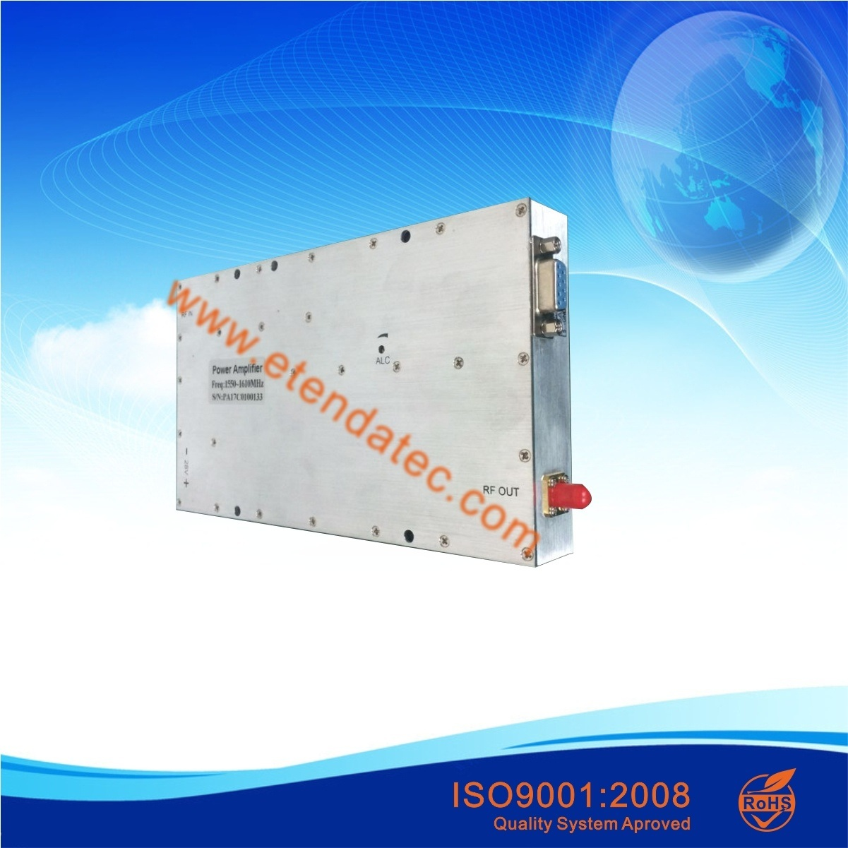 100W 50dB 500MHz to 2500MHz Pulse Working RF Broadband Power Amplifier