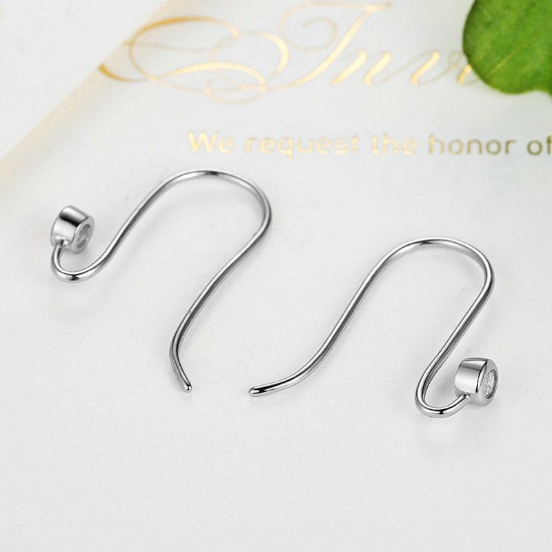 New Post Earrings, Clear CZ & Silver for Women Drop Earrings