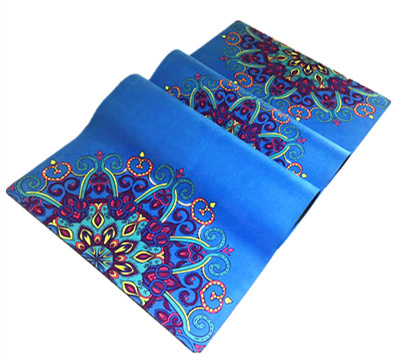 Mandala Print Ultra Absorbent Microfibre Anti Slip Exercise Pilates Yoga Mat with Private Label