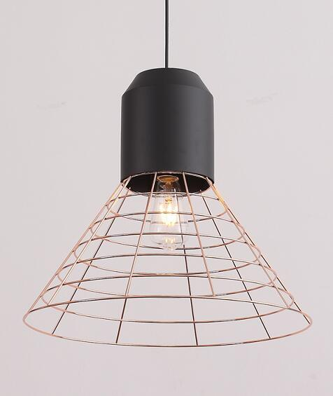Gold Iron Metal Net Shade Hanging Pendant Light (P-170502-S)