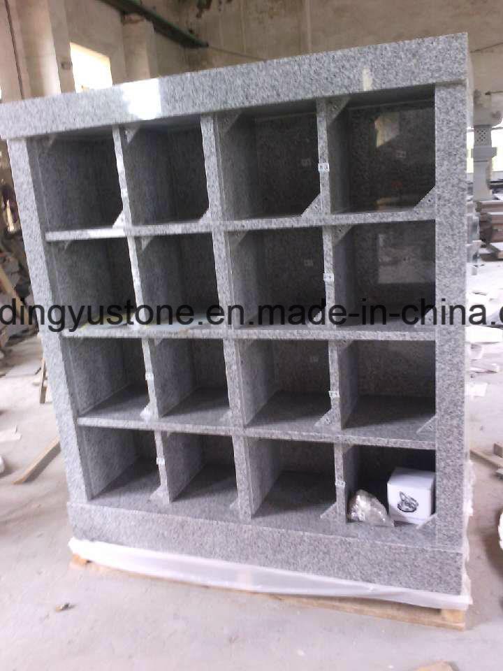 Grey Granite Memorial Cremation Niches Columbarium / Columbaria