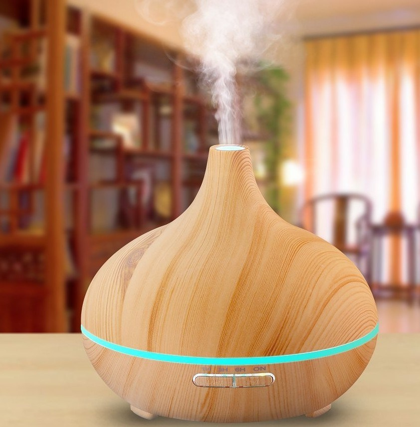 Manufacturer 300ml Wood Grain Ultrasonic Mist Maker