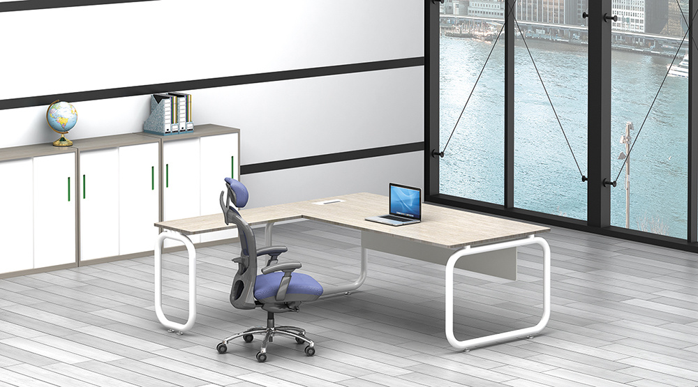 White Customized Metal Steel Office Executive Table Leg Ht75-2