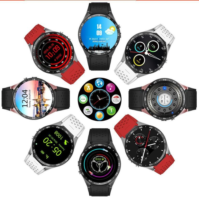 """Kw88 Android 5.1 Quad Core 1.39"""" 4GB ROM Smart Watch Phone Rose Gold"""