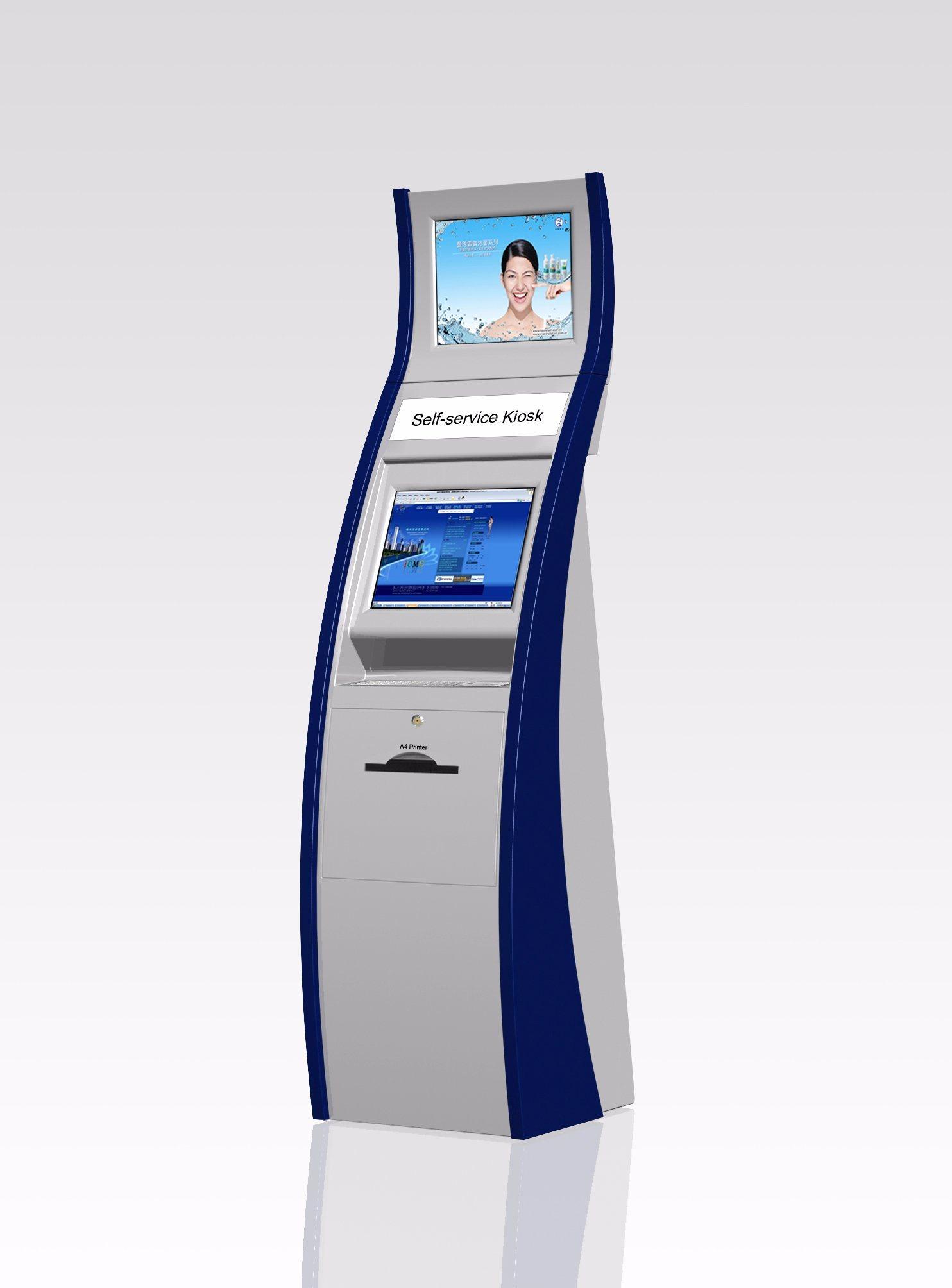 Dual Screen Kiosk Banking ATM Payment Kiosk Manufacturer